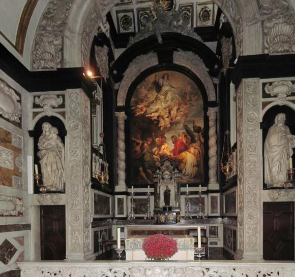Antwerp - St Borromeo Church - Side Chapel