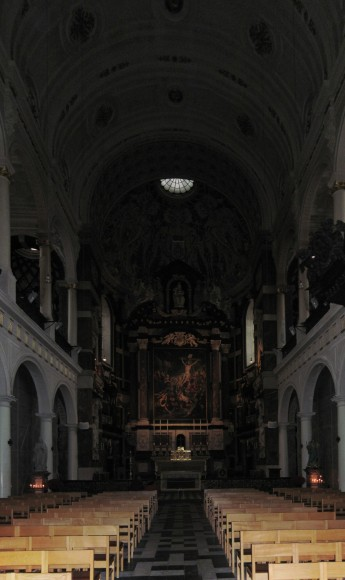 Antwerp - St Borromeo Curch - Central Nave