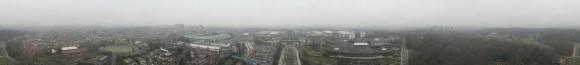 Bruxelles sight from Atomium