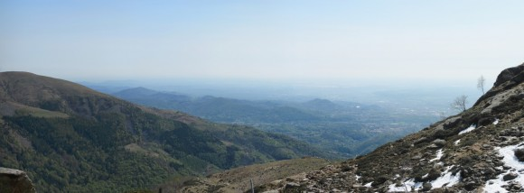 Vista di Biella da Oropa