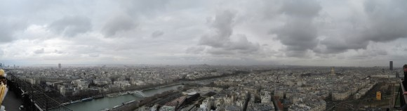 10 - Paris from Eiffel Tower - Level 2 Nord-east
