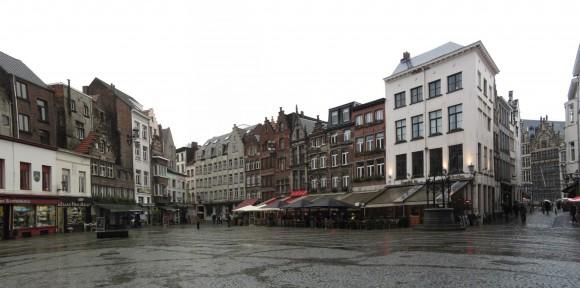 Anversa - Piazza della cattedrale di nostra signora
